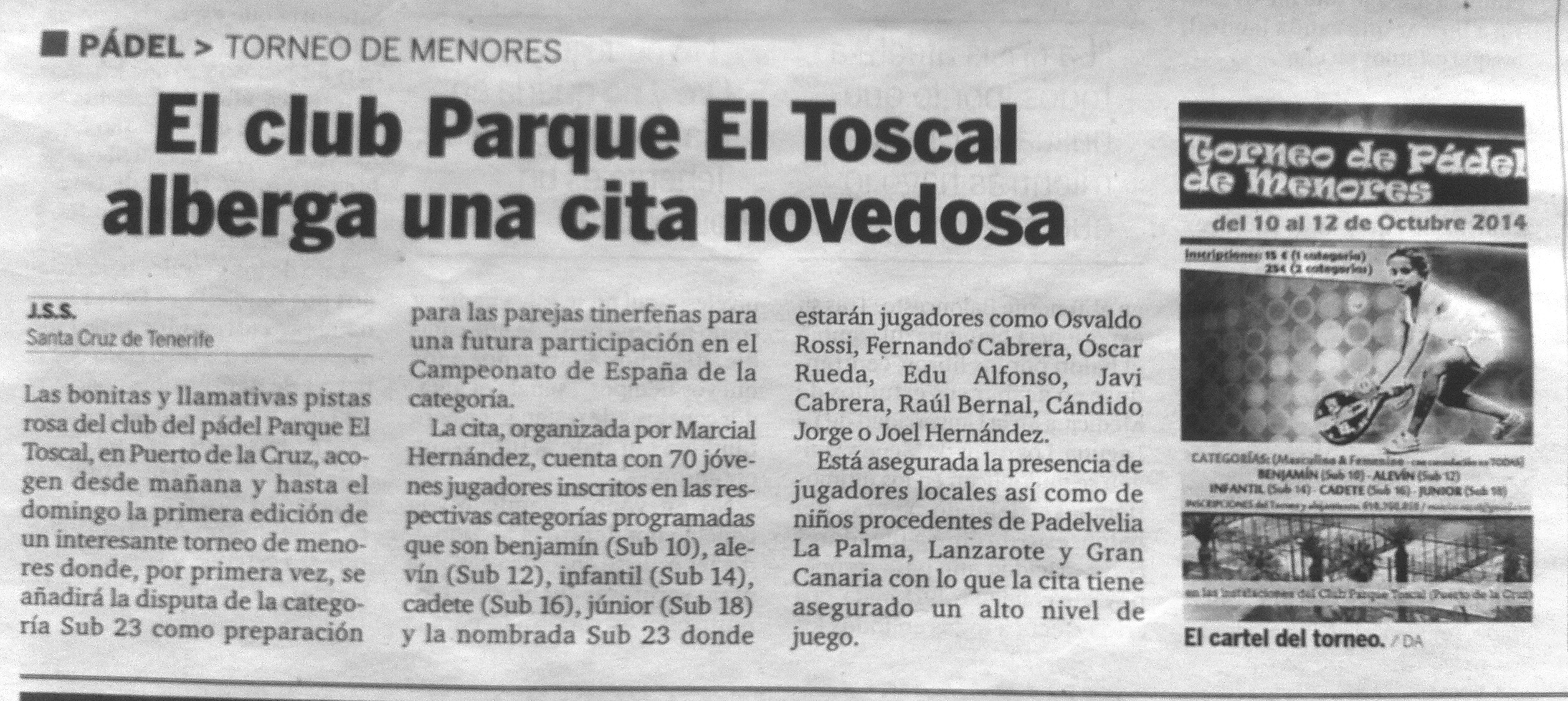 Noticias Prensa Archivos - mhmtenispadel.com - clases de tenis padel en Tenerife